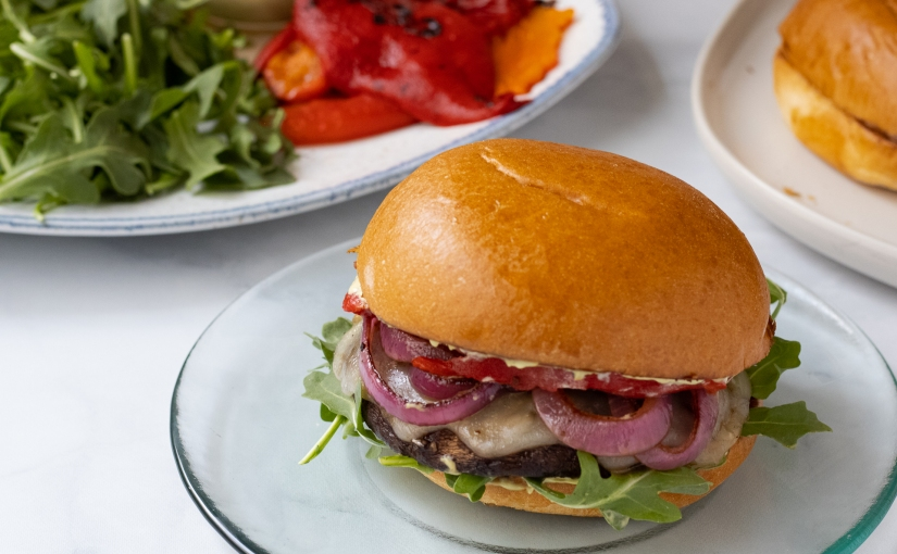 Grilled Portobello mushroomburgers