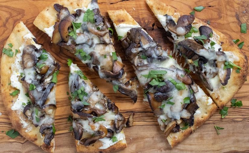 Mushroom and goat cheeseflatbreads